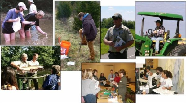 Collage of People Working in the Community