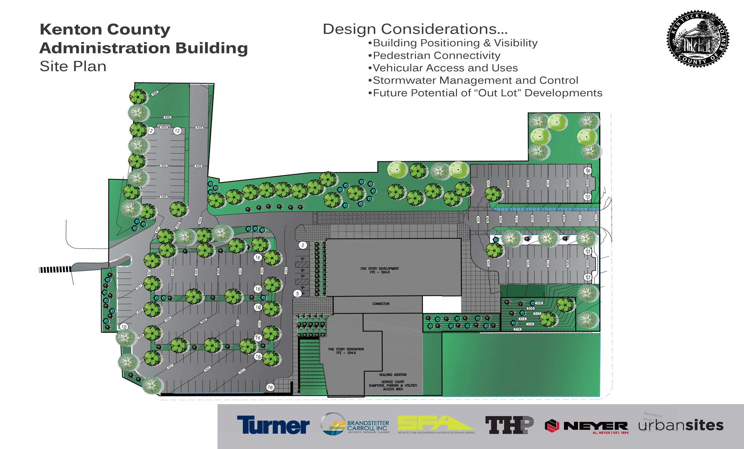 Administration Building Design Rendering - Site Plan