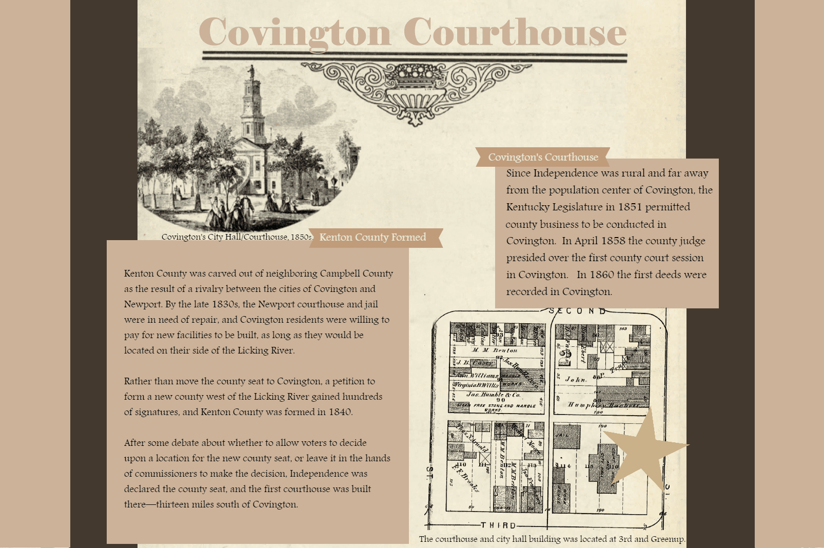 Covington Courthouse Poster 1